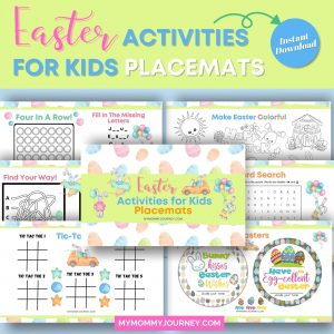 Easter Activities for Kids Placemats printables