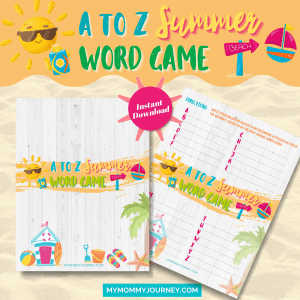 A To Z Summer Word Game