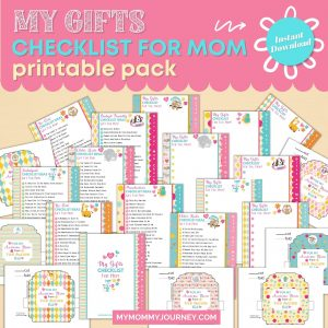 My Gifts Checklist for Mom printable pack