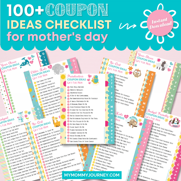 100 Plus Coupon Ideas Checklist for Mothers Day