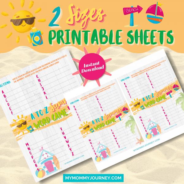 2 Sizes Printable Sheets