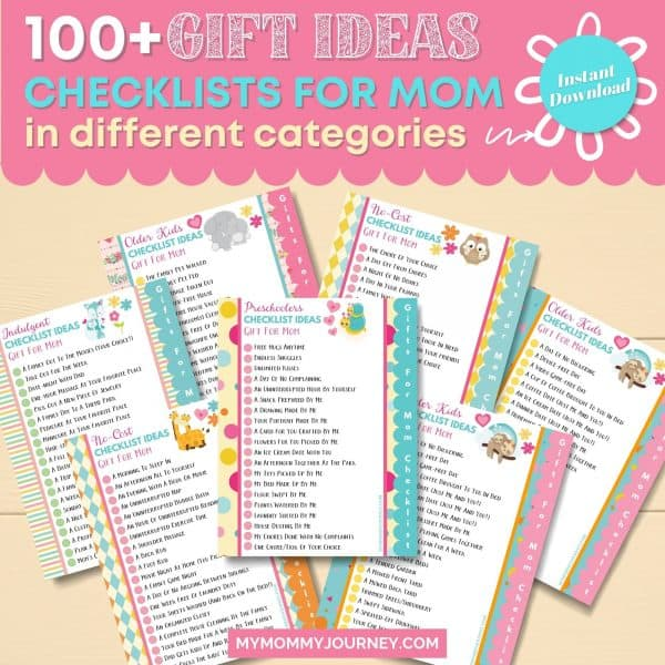 100+ Gift Ideas Checklist for Mom in different categories
