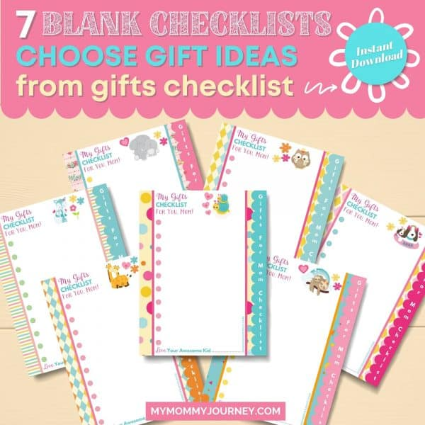 7 Blank Checklists choose gift ideas from gifts checklist