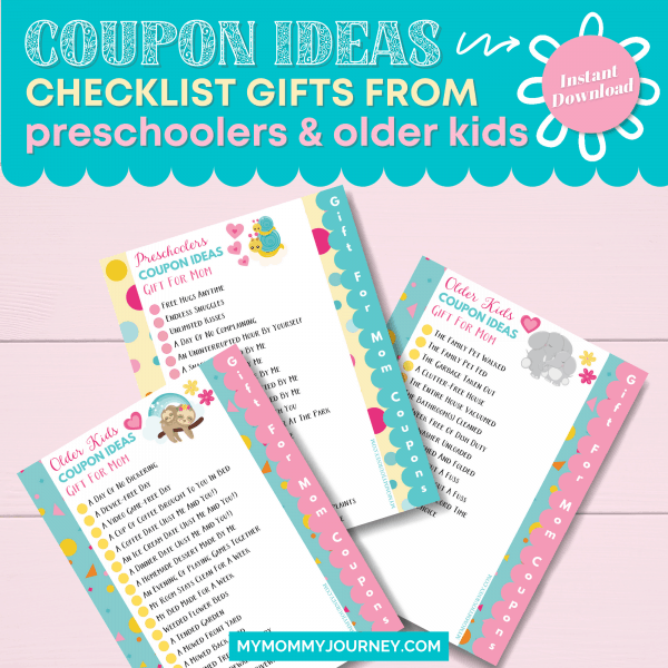 Coupon Ideas Checklist Gifts From Preschooler and Older Kids