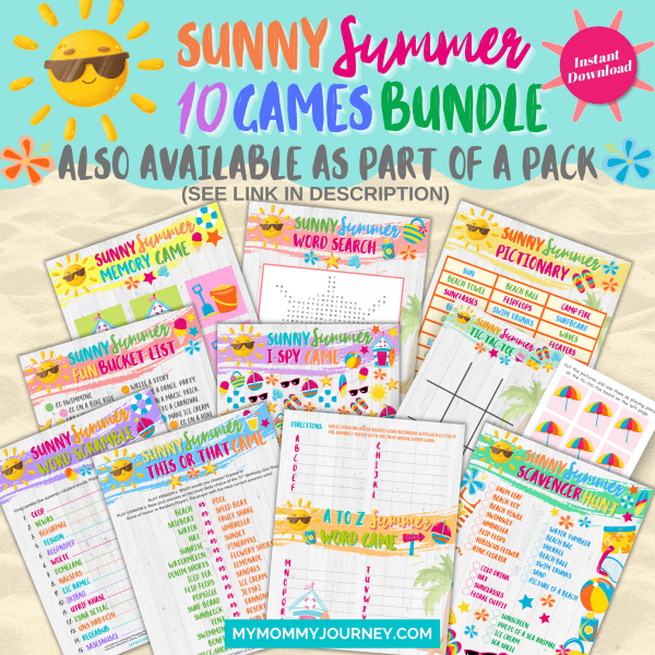 Sunny Summer 10 Games Bundle Also Available as Part of a Pack