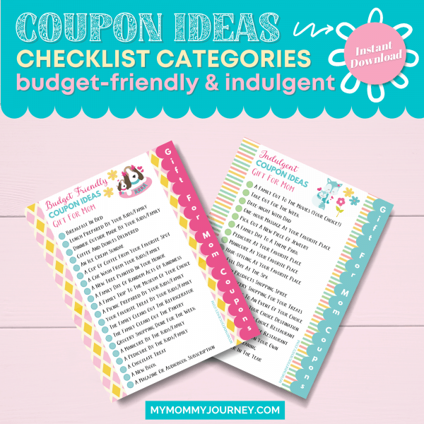 Coupon Ideas Checklist Category Budget and Indulgent Gifts