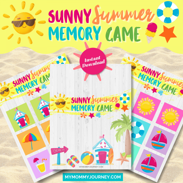 Sunny Summer Memory Game printables