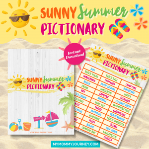 Sunny Summer Pictionary printables