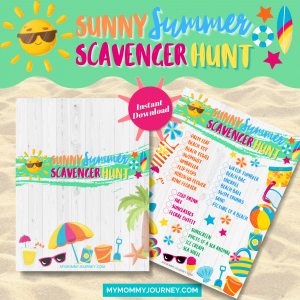 Sunny Summer Scavenger Hunt printable game