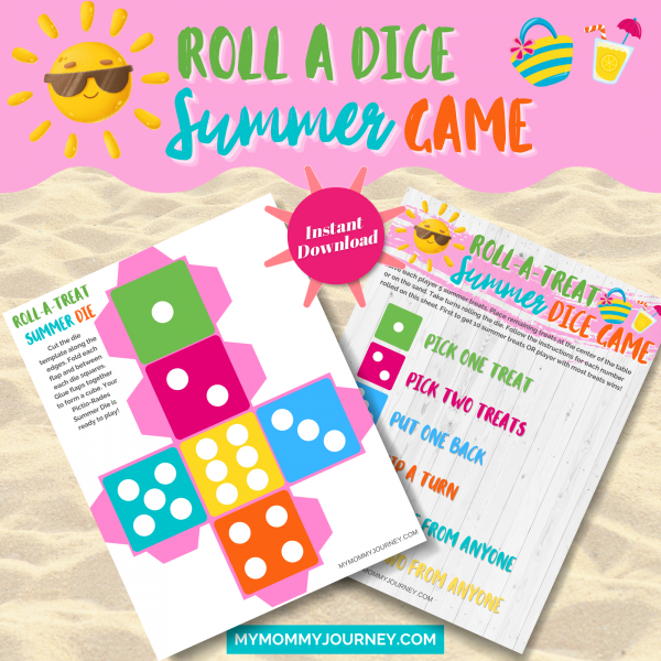 Roll a dice summer game