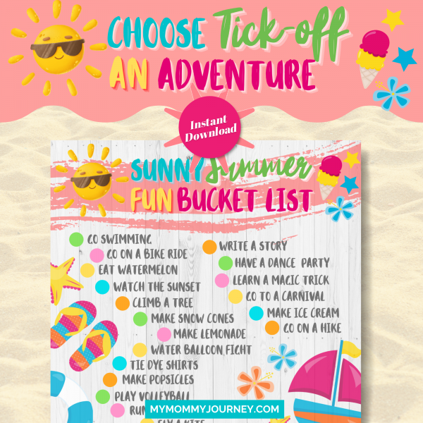 Choose and tick-off an adventure printable