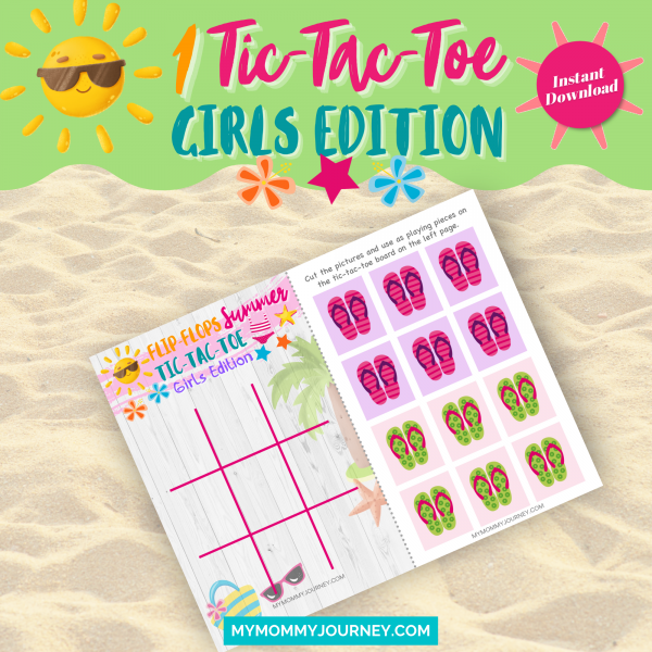 Flip-Flops Summer Tic-Tac-Toe girls edition