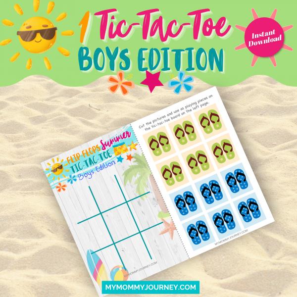 Flip-Flops Summer Tic-Tac-Toe boys edition