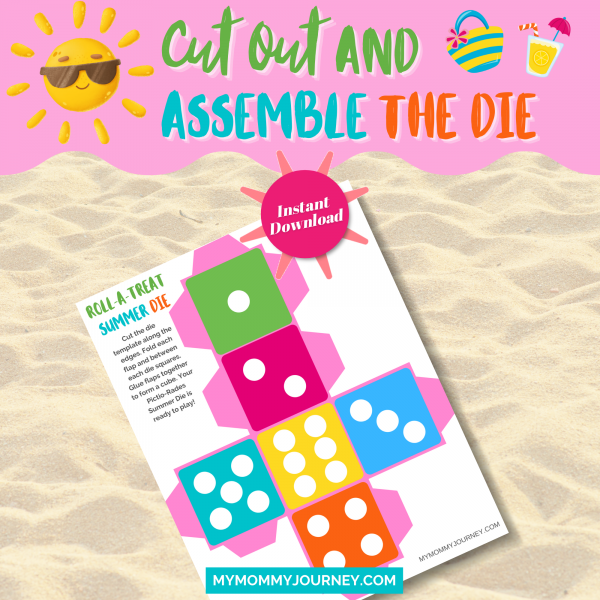 Cut out and assemble the summer die