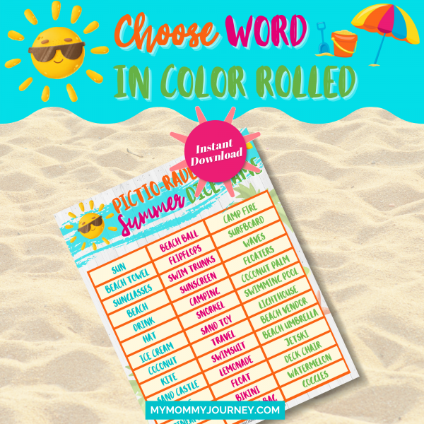 Choose word in color rolled