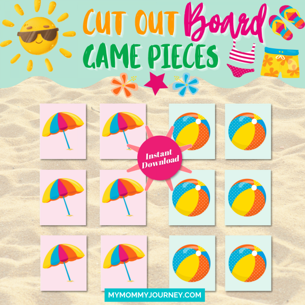 Cut out board game pieces