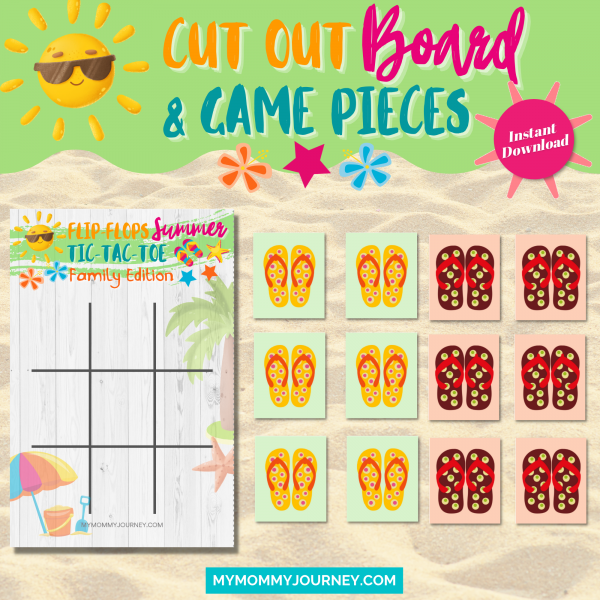 Cut out board and game pieces