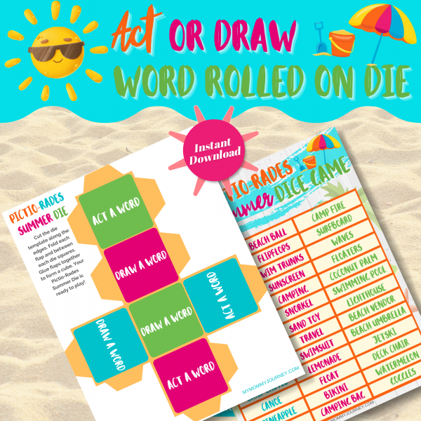 Act or draw word rolled on die