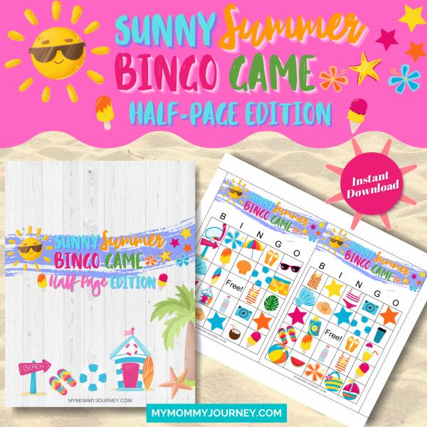 Sunny Summer Bingo Half-Page Edition