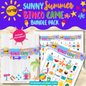 Sunny Summer Bingo Bundle Pack printable