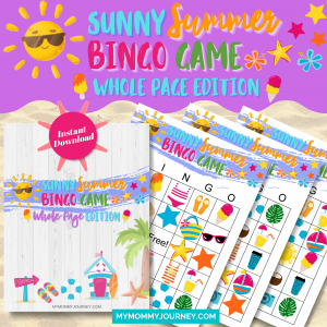 Sunny Summer Bingo Whole-Page Edition