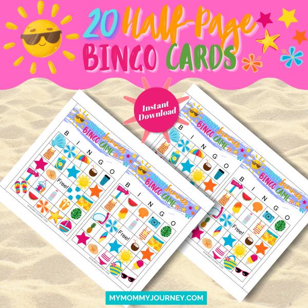 20 Half-Page Bingo Cards