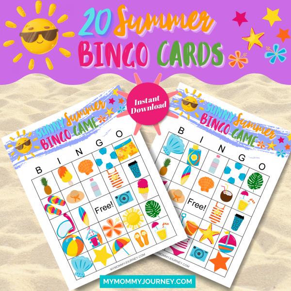20 Summer Bingo Cards