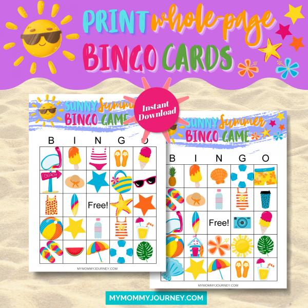 Print Whole-Page Bingo Cards