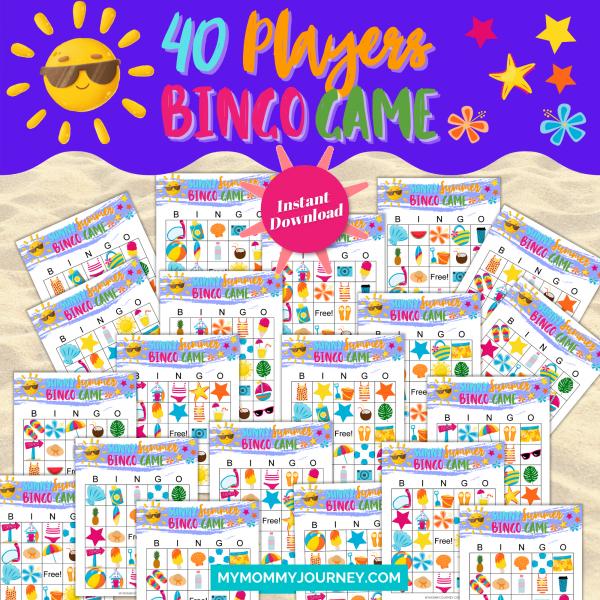 Sunny Summer Bingo Bundle Pack 40 Players Bingo Game