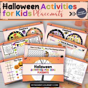 Halloween Activities for Kids Placemats