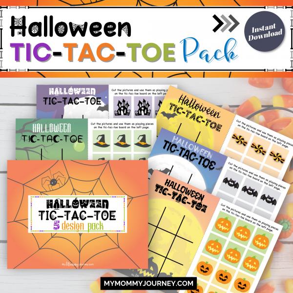 Halloween Tic-Tac-Toe Game Pack printable