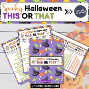 Spooky Halloween This Or That game printable