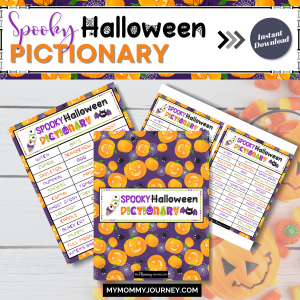 Spooky Halloween Pictionary printable game