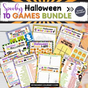 Spooky Halloween 10 Games Bundle printable
