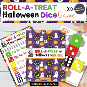 Roll-A-Treat Halloween Candy Dice Game printable