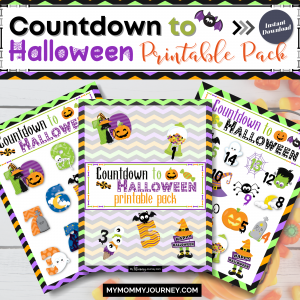 Countdown to Halloween Printable Pack