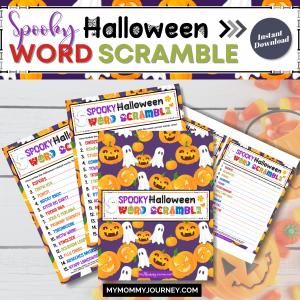 Spooky Halloween Word Scramble