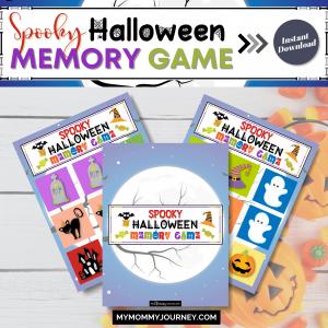 Spooky Halloween Memory Game printable