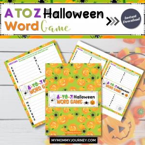 A to Z Halloween Word Game printable
