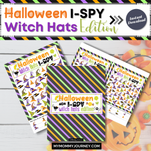 Halloween I-Spy Witch Hats Edition printable game