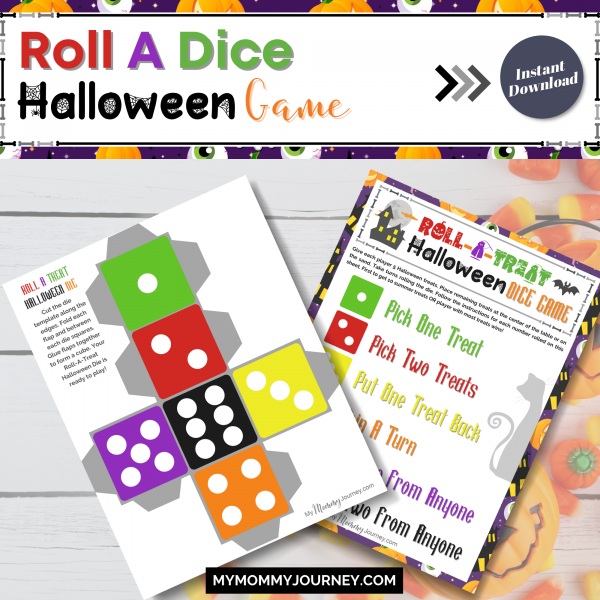 Roll a dice Halloween game