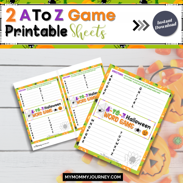 2 A to Z Game printable sheets