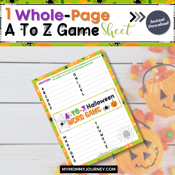 1 Whole-page A to Z Game sheet
