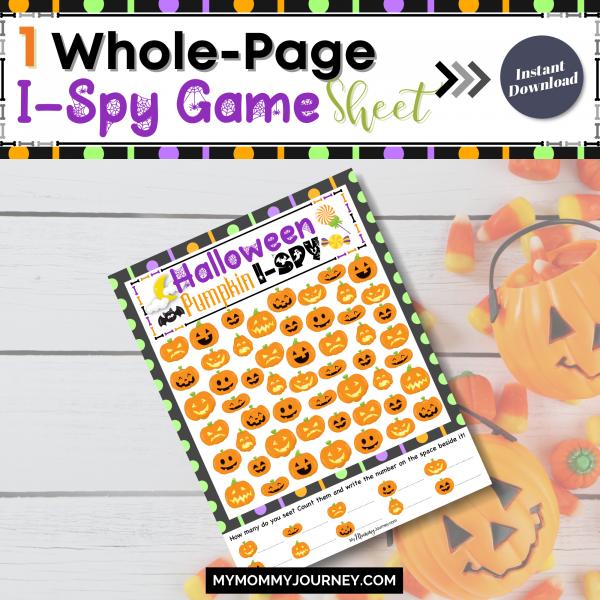 1 Whole-page I-Spy game sheet