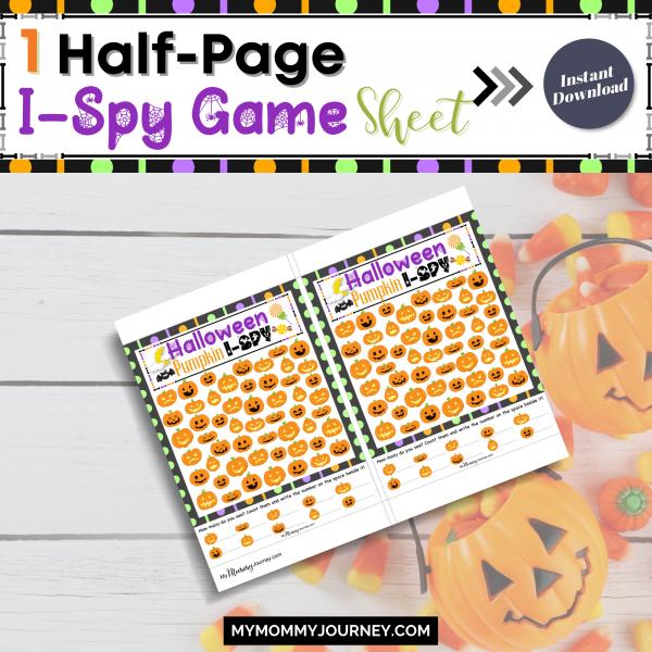 1 Half-page I-Spy game sheet