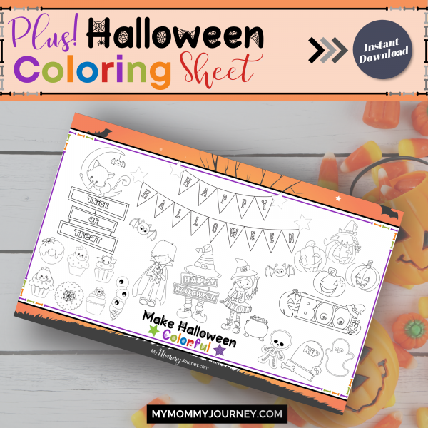 Plus Halloween Coloring Page