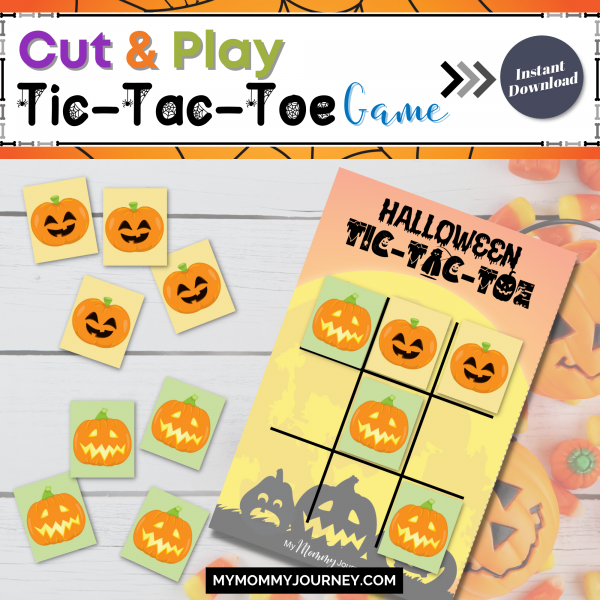 Cut and play tic-tac-toe game