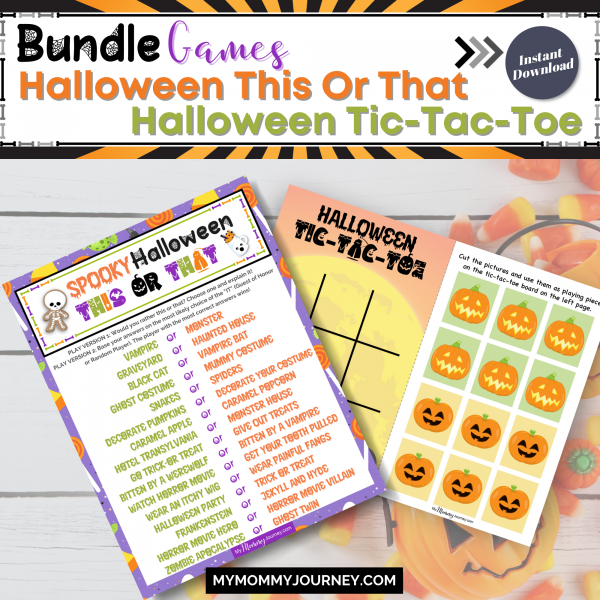 Bundle Games Halloween This Or That and Halloween Tic-Tac-Toe