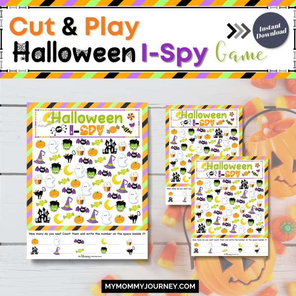 Cut and play Halloween I-Spy games
