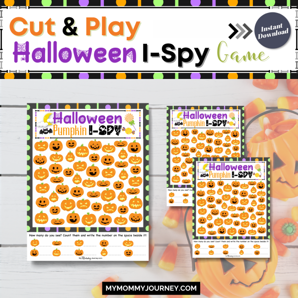 Cut and play Halloween I-Spy Game